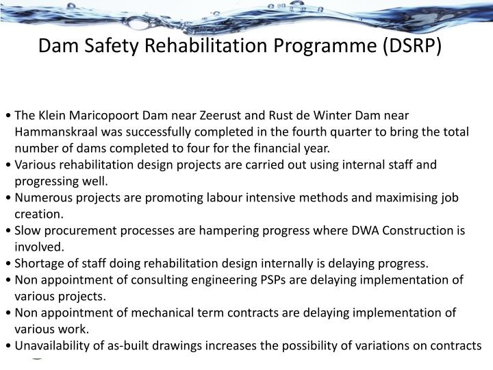 Dam Safety Rehabilitation Programme (DSRP)