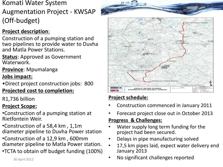 Komati Water System Augmentation Project - KWSAP (Off-budget)