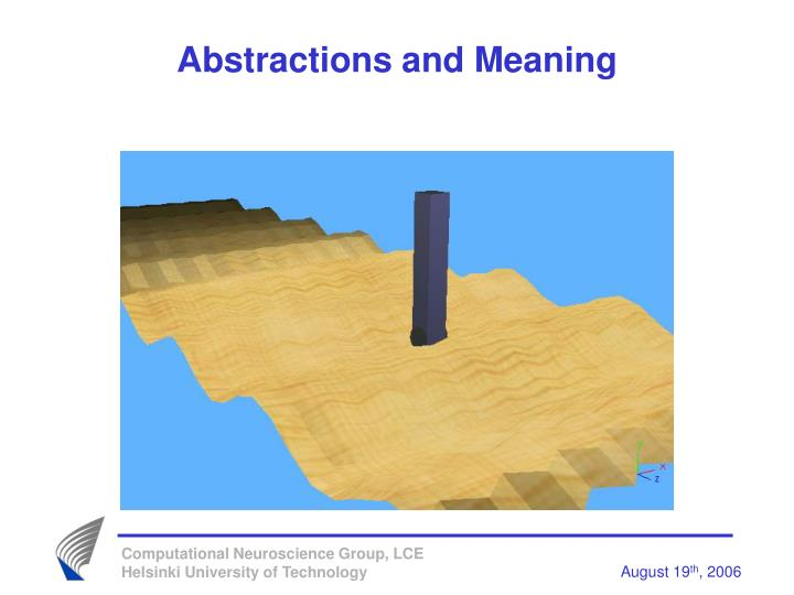 Abstractions and Meaning