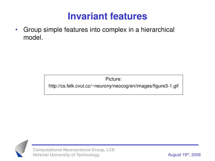 Invariant features