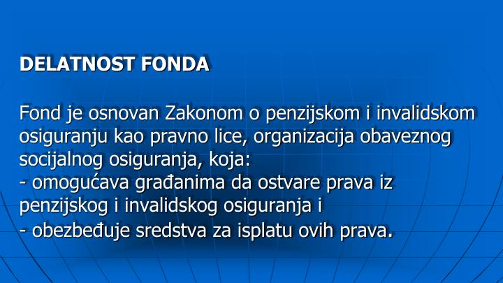 DELATNOST FONDA