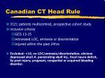canadian ct head rule