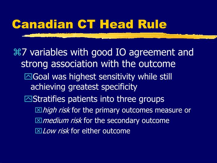 Canadian CT Head Rule