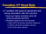 canadian ct head rule4