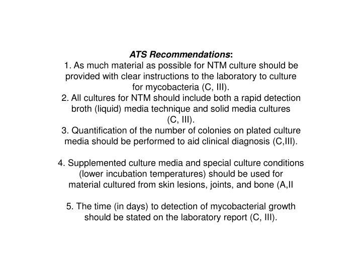 ATS Recommendations