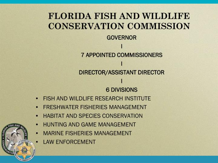 Ppt fwc division of law enforcement all hazards response for Florida fish wildlife