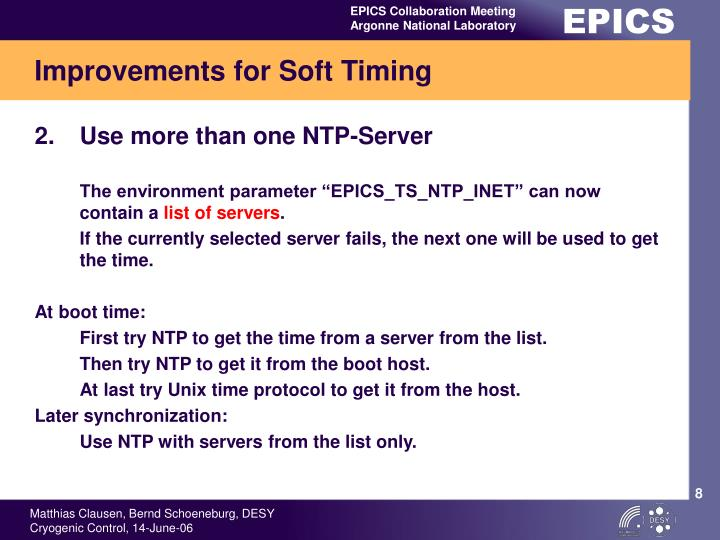 Improvements for Soft Timing