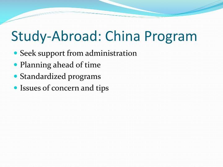 Study-Abroad: China Program