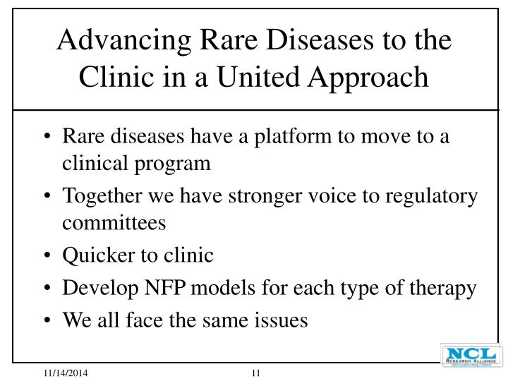 Rare diseases have a platform to move to a clinical program