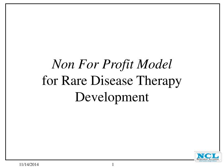 Non For Profit Model