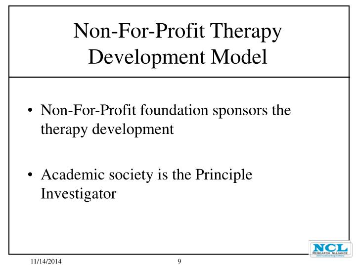 Non-For-Profit foundation sponsors the therapy development