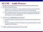 sucss audit process