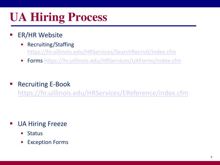 UA Hiring Process