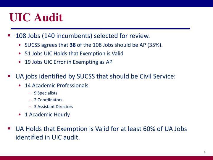 UIC Audit