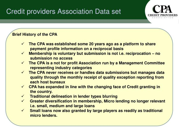 Brief History of the CPA