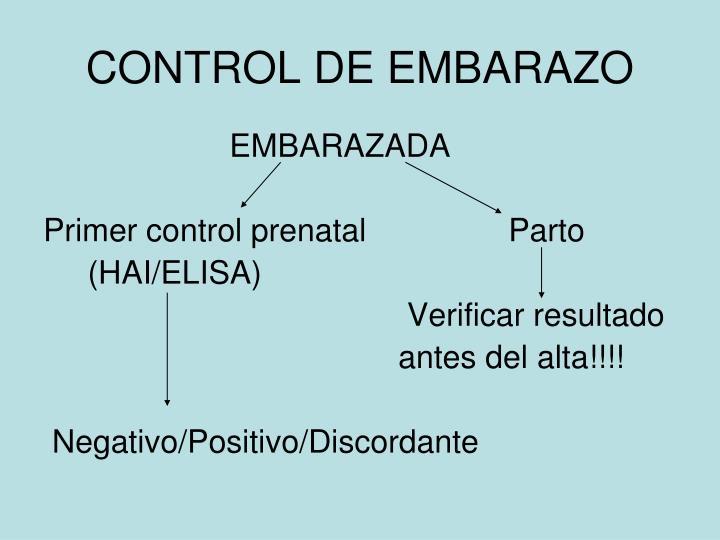 CONTROL DE EMBARAZO