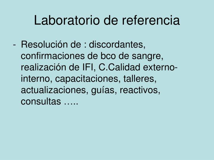 Laboratorio de referencia