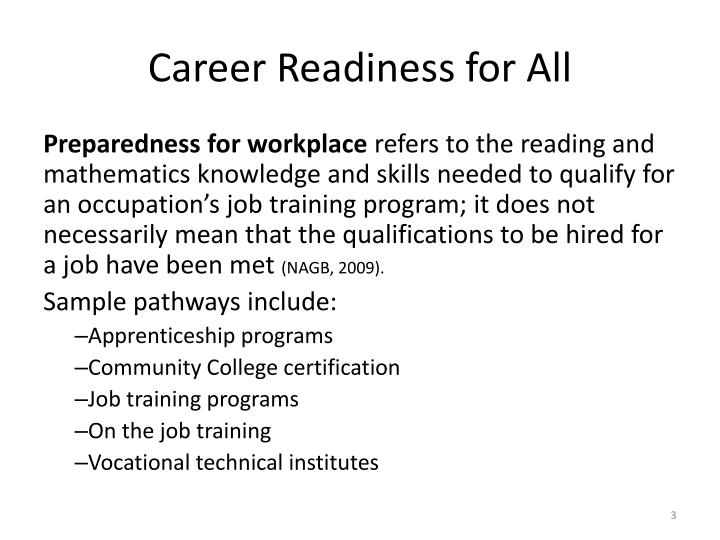 Career Readiness for All