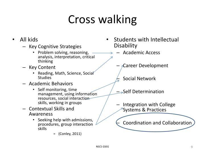 Cross walking