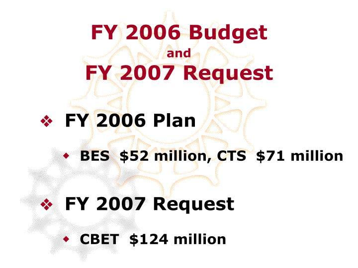 FY 2006 Budget