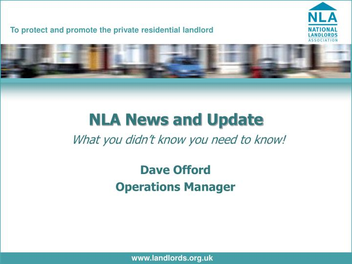 NLA News and Update