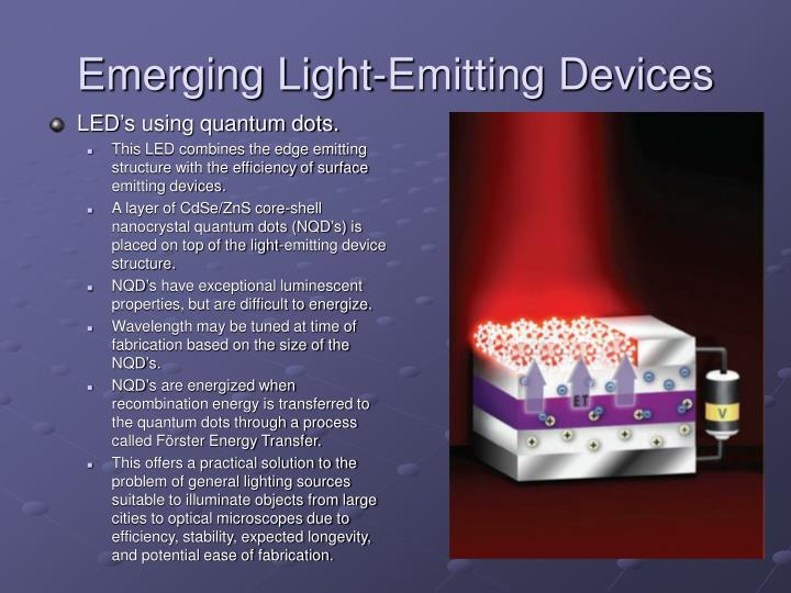 Emerging Light-Emitting Devices