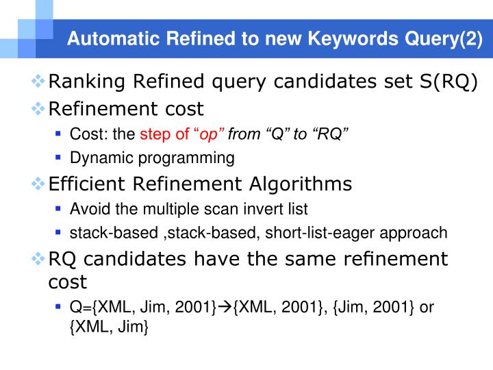 Automatic Refined to new Keywords Query(2)
