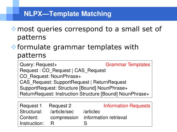 NLPX—Template Matching