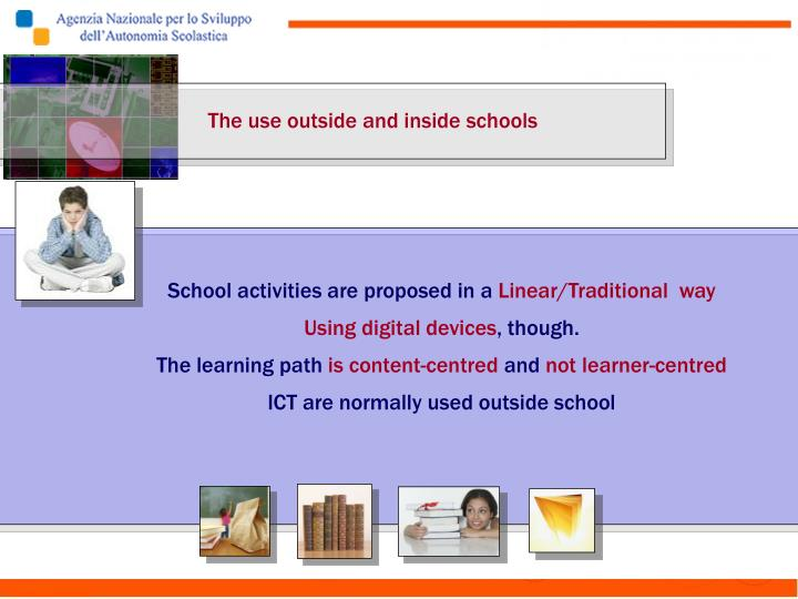 The use outside and inside schools