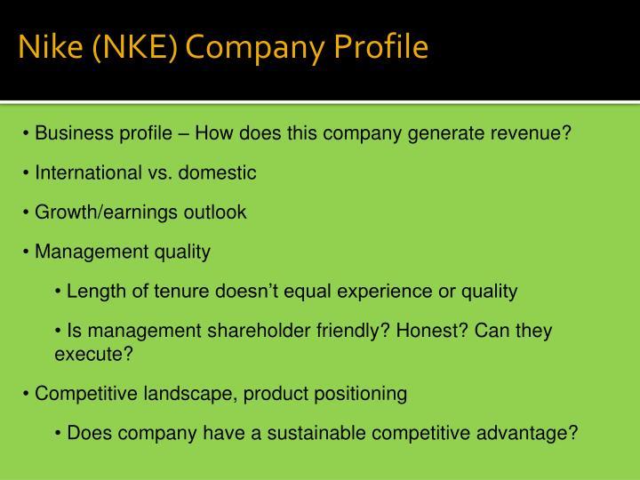 Nike (NKE) Company Profile