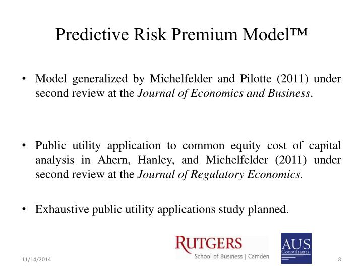 Predictive Risk Premium Model™