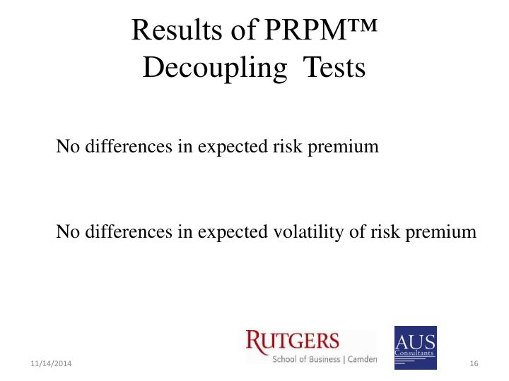 Results of PRPM™