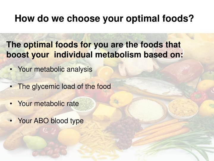 How do we choose your optimal foods?