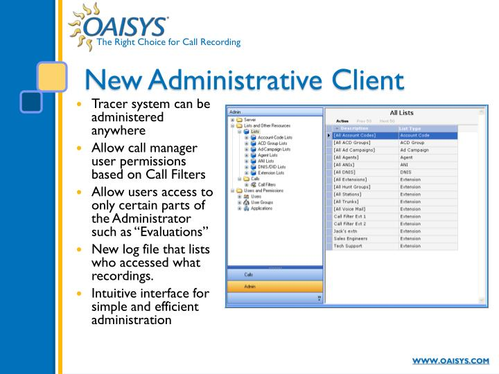 New Administrative Client