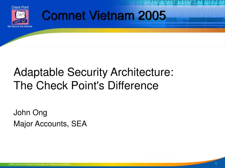 Adaptable security architecture the check point s difference