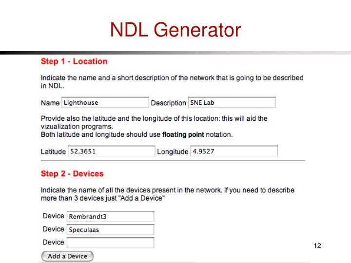 NDL Generator