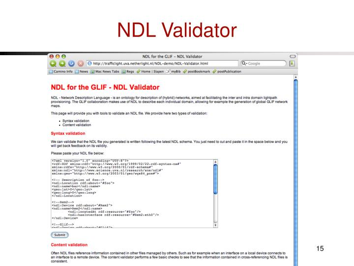 NDL Validator