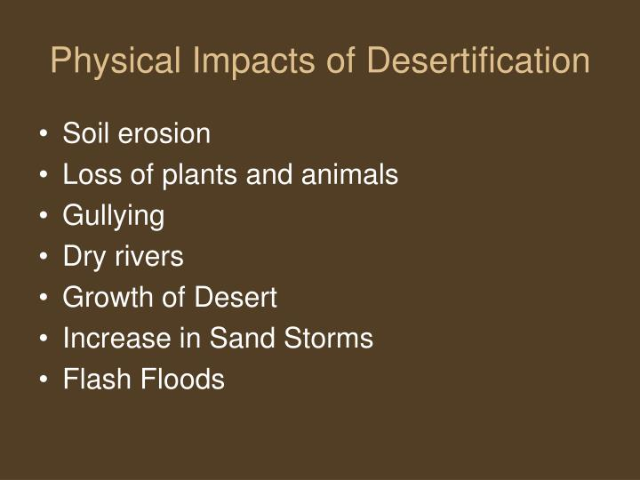 Physical Impacts of Desertification