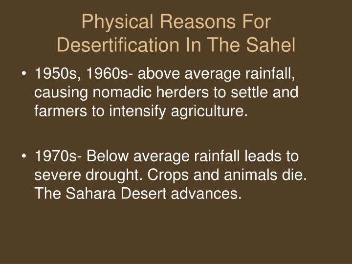 Physical Reasons For Desertification In The Sahel