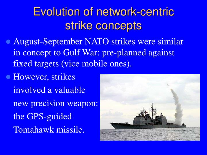 Evolution of network-centric strike concepts