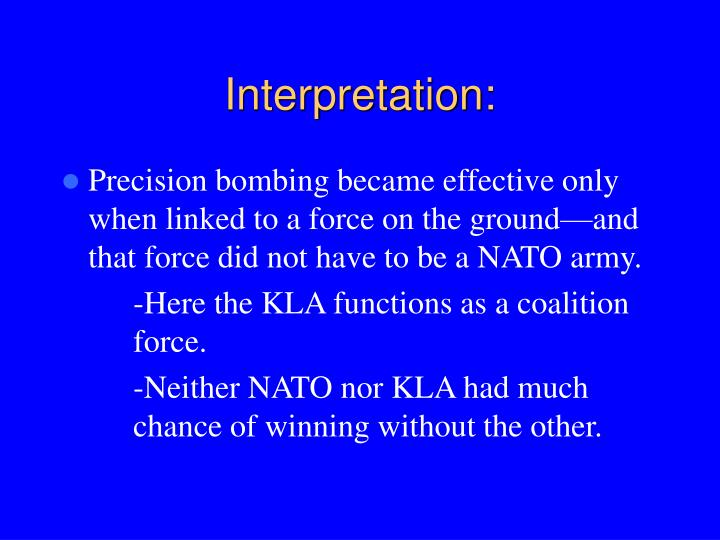 Interpretation:
