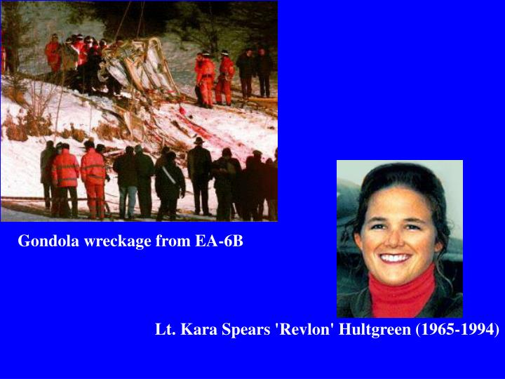 Gondola wreckage from EA-6B
