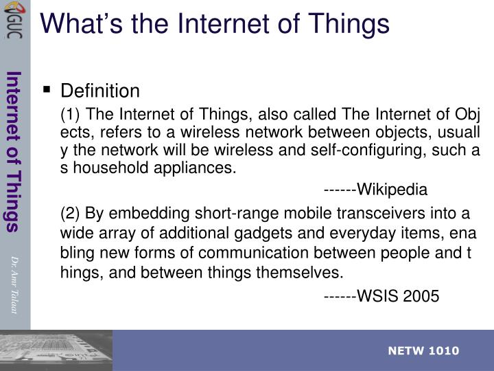 What's the Internet of Things