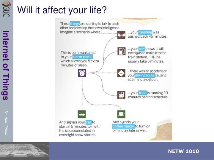 Will it affect your life?