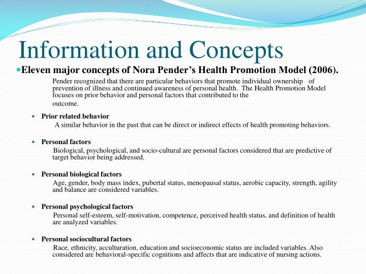 concepts of health promotion Chapter 02: concepts of health, illness, stress, and health promotion test bank multiple choice 1 the nurse is aware that any description of health would include the concept that: a health.