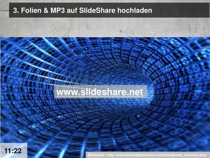 3. Folien & MP3 auf SlideShare hochladen