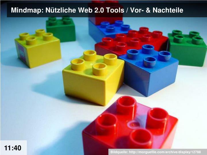 Mindmap: Nützliche Web 2.0 Tools / Vor- & Nachteile