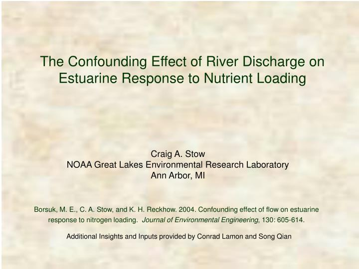 The Confounding Effect of River Discharge on Estuarine Response to Nutrient Loading