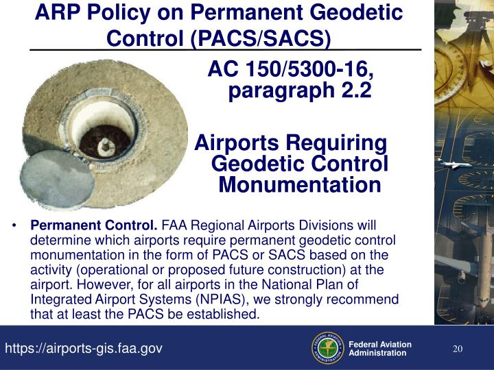 ARP Policy on Permanent Geodetic Control (PACS/SACS)