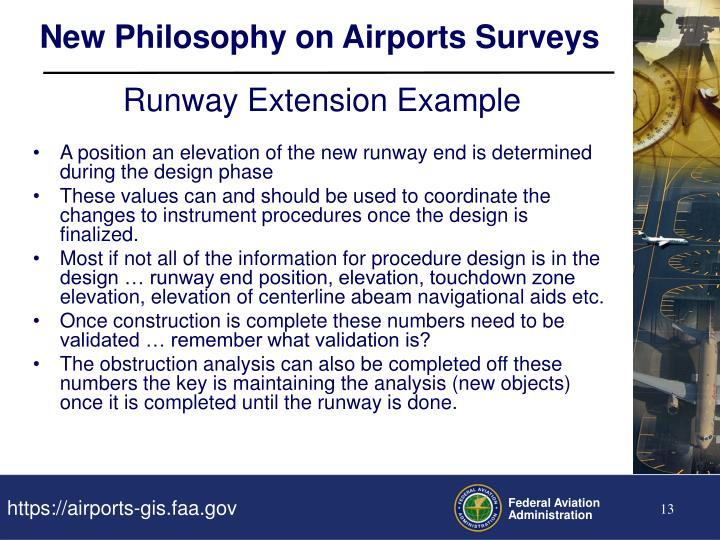 New Philosophy on Airports Surveys
